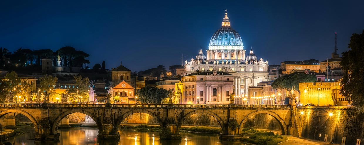 St Peter's Rome by night